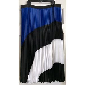 Lane Bryant Skirts - Color Block Pleated Maxi